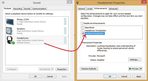 How to increase the maximum volume in Windows 8