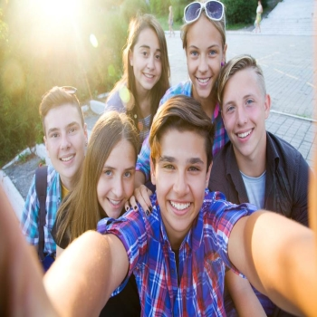 Teenagers are use Invisalign for colorful smile