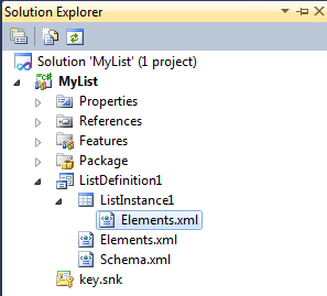 List Definition in SharePoint 2010