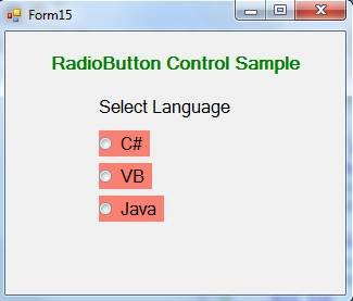 RadioButton Control in VB.Net