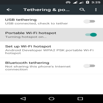 Create a Wi-Fi hotspot with an Android phone