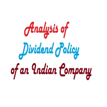 Analysis of Dividend Policy of an Indian Company