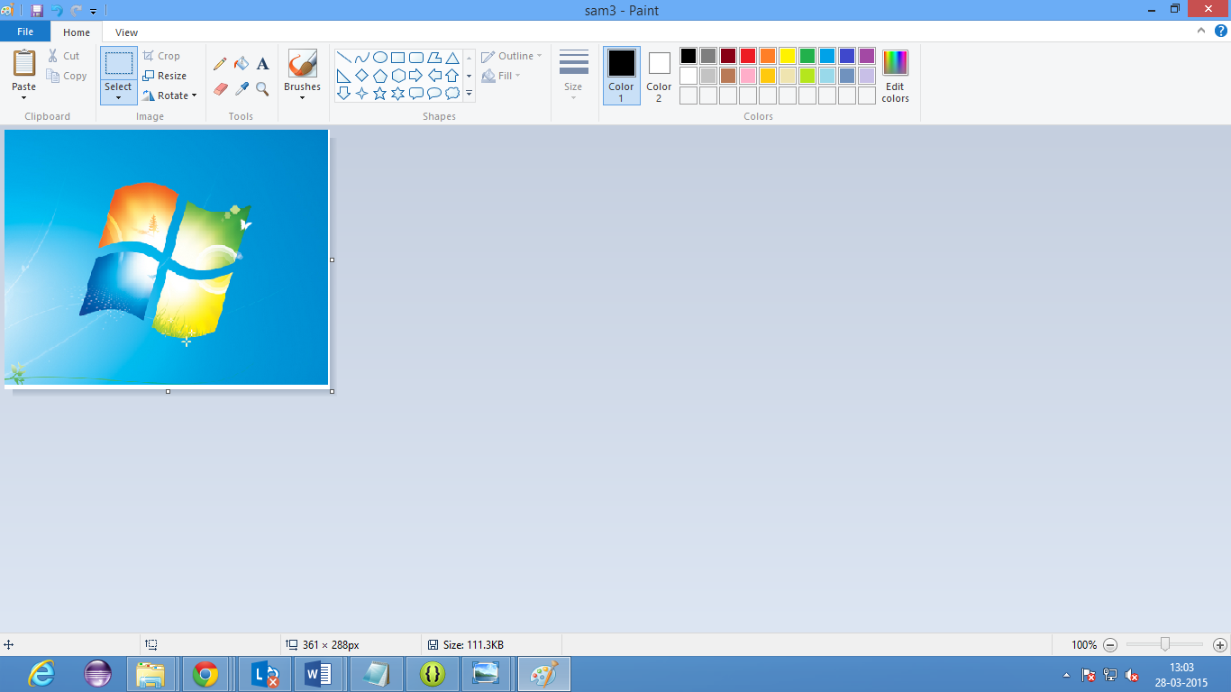 How to Crop an Image with Microsoft Paint