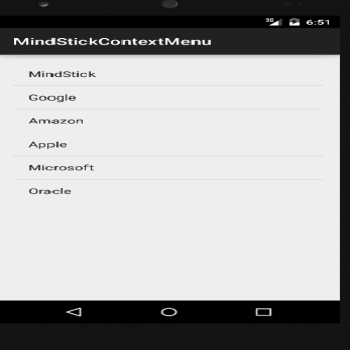 Contextual Menu Implementation in Android