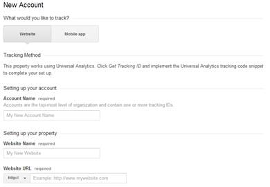 Google Analytics - Setup Website Tracking Code