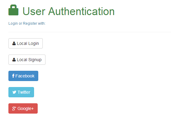 User Authentication with All Social Account under One Account in Node.js