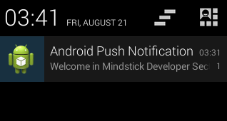 Notification example in Android