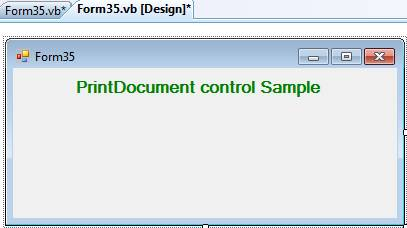 PrintDocument PrintPreviewDialog and PrintDialog Control in