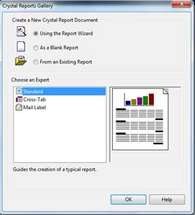 Crystal Report Using Wizard