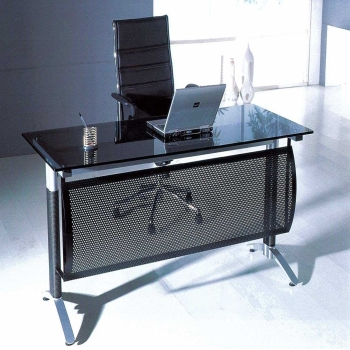 Glass desks enhancing home office beauty