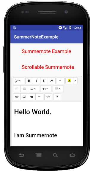 How to add summernote editor in android studio project?