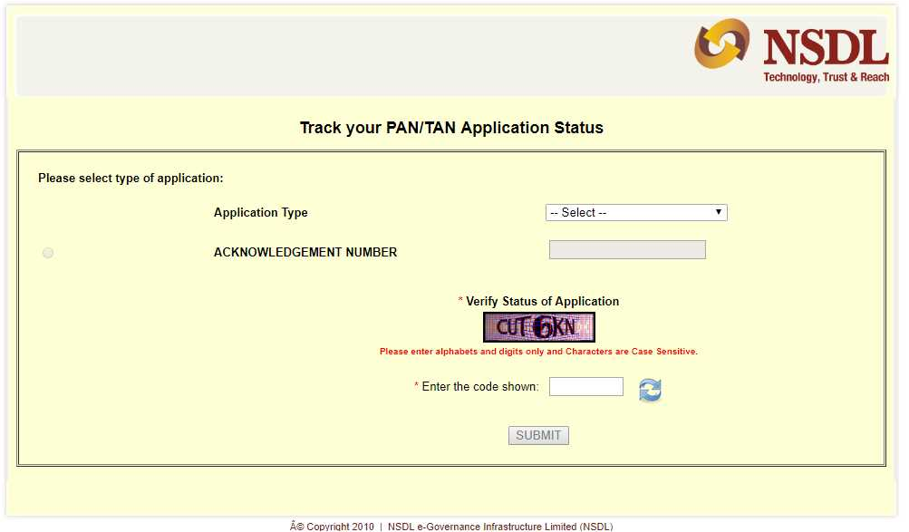 How to check PAN Application Status?