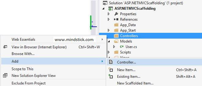 Steps to create MVC CRUD operation using Scaffolding.